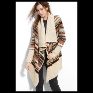 Kensie Fair Isle Sweater Cardigan